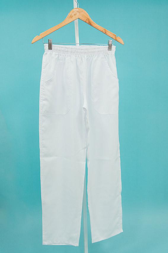 AIBJ Uniformes Calça Elástico Oxford Branca