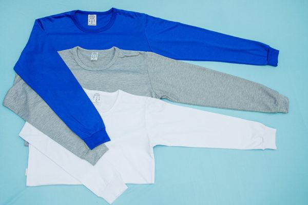 AIBJ Uniformes Camisa Manga Longa Azul Branca Mescla
